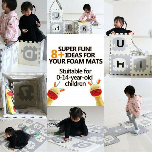 36X Alphabet ABC Letters Numbers Puzzle Floor Foam Mat Play Mats Large 175x175cm