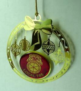 Teamsters-Local-745-Christmas-Ornament-Vintage-Red-and-Gold
