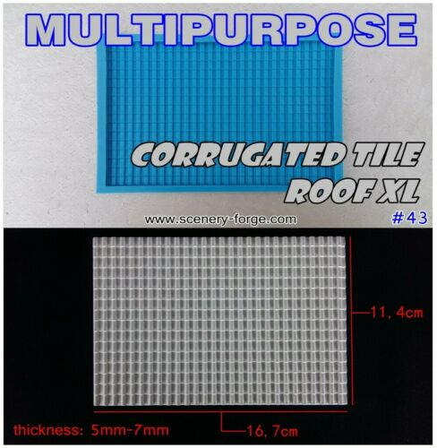 Scenery Forge CORRUGATED TILE ROOF mold Tabletop it/'s not a hirst arts system