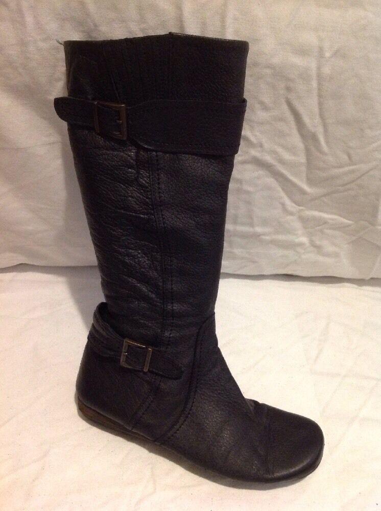 Faith Black Mid Calf Leather Boots Size 37
