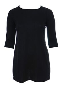 Bnwt-Plus-Size-16-28-Black-Glitter-Tunic-Top-Dress-3-4-Sleeve-Ladies-LICK