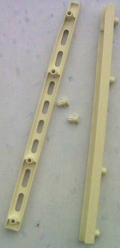 PLASTIC DRAWER RUNNERS ONE PAIR 250MM LENGTH X 15MM WIDTH 10MM DEPTH 4 LUGS