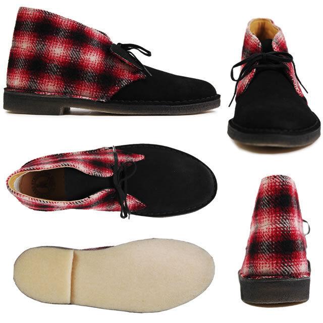 Clarks Originals Combi Uomini ** x Desert Boots ** Rosso Combi Originals CAMOSCIO ** F 206946