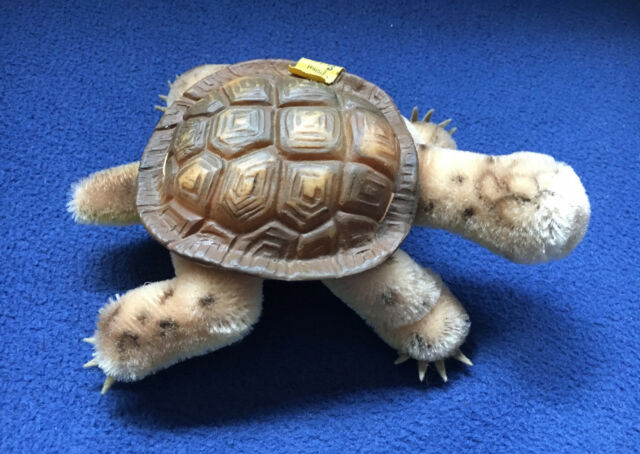Vintage 1956 Steiff Slo Turtle EAN 2314 Mohair Made in Germany