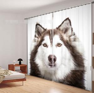 3D Wolf 31 Cortinas de impresión de cortina de foto Blockout Tela Cortinas Ventana Reino Unido