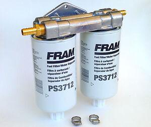 WVO BIO Diesel Dual Remote Mount, NO FRAM PS3712 Fuel Filter Water  Separators   eBayeBay