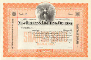 New-Orleans-Lighting-Company-gt-stock-certificate-share