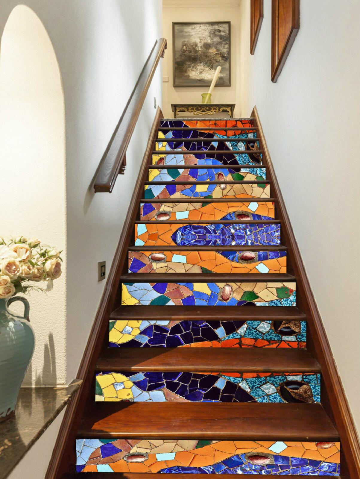 3D Kunst Marmor 336 Stair Risers Dekoration Fototapete Vinyl Aufkleber Tapete DE