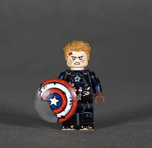 LYL BRICK Custom Avengers 4 Captain America Damaged Suit Lego Minifigure Building Toys Minifigures