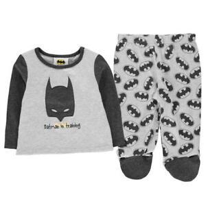 5ac5d32a8b Das Bild wird geladen BATMAN-Baby-Jungen-Schlafanzug-Hose-amp-Pullover- Pyjama-
