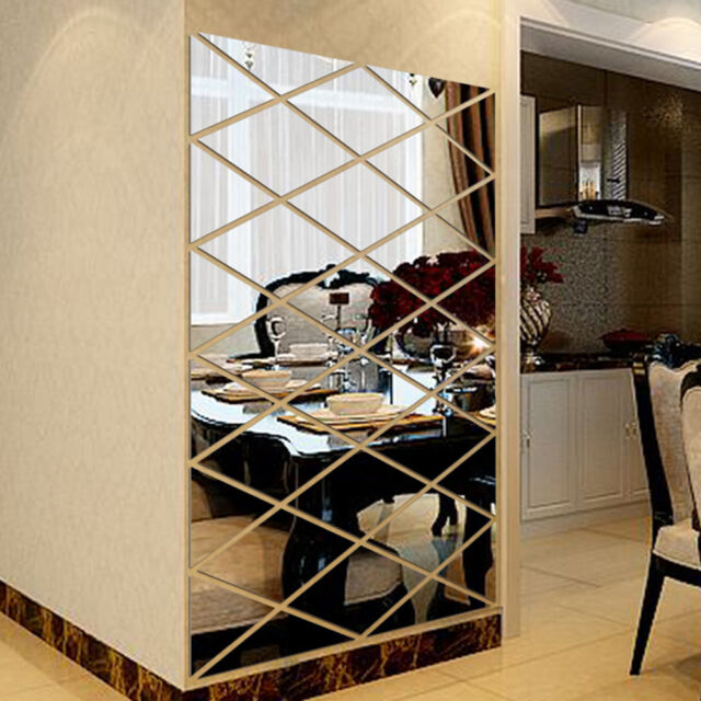 Acrylic Hollow Frame Shape Stickers Living Room Wall Sticker Mirror Home Decor For Sale Online Ebay