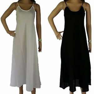 889bbe5d6d45d Size 16 Full Slip 100% COTTON NEW Ladies L Long Petticoat Dress ...