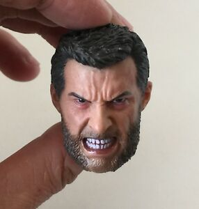Custom-Angry-Logan-Wolverine-1-6-Head-Sculpt-for-eleven-Hot-Toys-Body