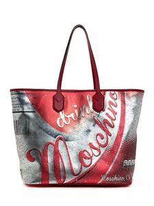 2d82f203a Image is loading MOSCHINO-Couture-Jeremy-Scott-LEATHER-Drink-Moschino-Coca-