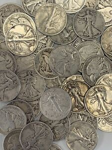 Walking-Liberty-Coin-Lot-CHOOSE-HOW-MANY-90-Silver-Half-Dollar-Coins