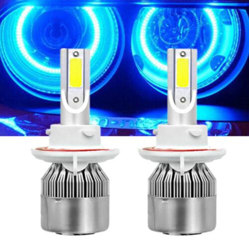 2020 NEW H13 9008 8000K Ice Blue 4000LM LED Headlight Bulbs Kit High /& Low Beam