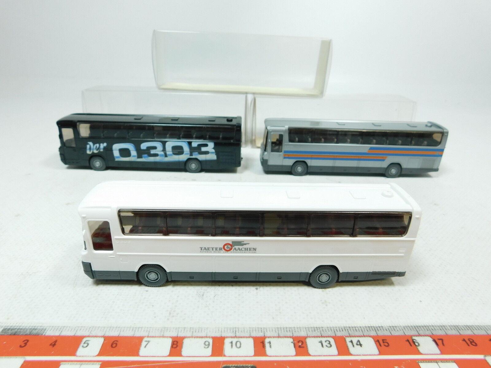 Bb265-0, 5 X Wiking H0  (1 87 ) 712 Bus Mercedes-Benz   MB O 303, NIP