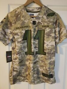 sports shoes 0f142 b2194 Details about Nike Carson Wentz Youth Salute To Service Jersey Youth Size M  Eagles