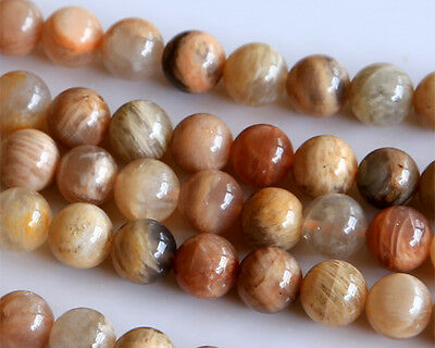 Discount for wholesale Natural Sunstone Round Loose Beads 4-14mm Stone Jewelry