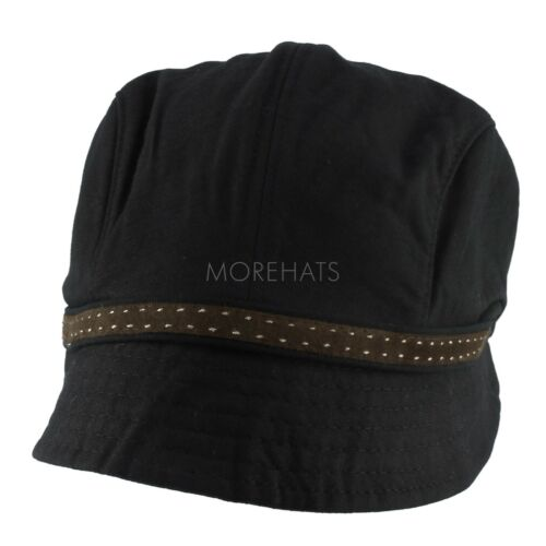 Womens Year Round Casual 100/% Cotton Packable with Faux Suede Trim Cloche Hat