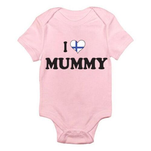 I love finlandais momie-Maman Finlande fun thème baby grow rompre mère