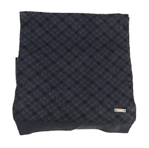 New NWT Ryan Seacrest Men/'s Scarf Check Hashtag Plaid Warm Warm Charcoal Black
