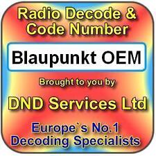 Blaupunkt OEM Radio Code Decode Unlock by Serial Number