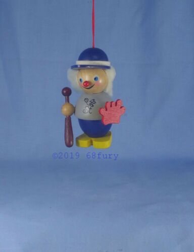 """Steinbach Ornament New in Package 3/"""" Germany Baseball Player"""