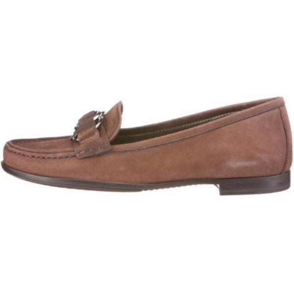 Nuevo [] Geox Respira flora marrón Coffee Echt Leder mocasín zapatos de mujer