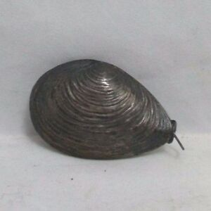 ANTIQUE-silver-CLAM-SHELL-TAPE-MEASURE
