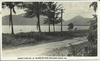 TRINITY BAY FROM ESPLANADE CAIRNS QLD PHOTO POSTCARD
