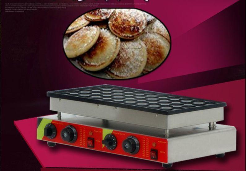 50pcs Commercial Electric Poffertje Mini Dutch Pancake Waffle Maker Baker