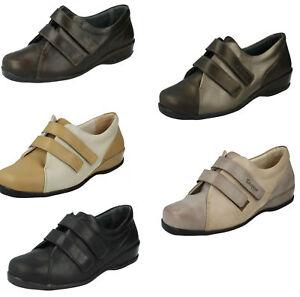 gran descuento bd42f 22680 Detalles de Mujer Cuero Cierre Adhesivo Sandpiper Zapatos Weston