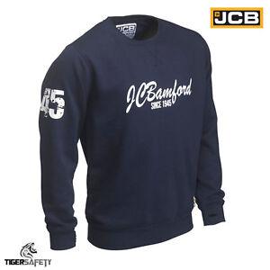 JCB-Bamford-Ltd-Edition-Navy-Blue-Sweatshirt-Sweater-Jumper-Work-Top-Pullover