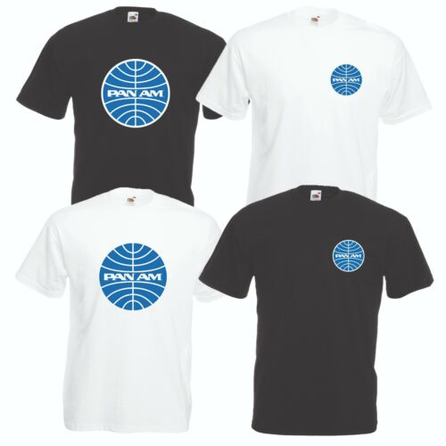 Pan Am Airline T-Shirt Car Motorcycle Enthusiast VARIOUS SIZES /& COLOURS