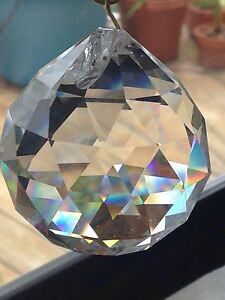 30mm Asfour AB Crystal Disco Ball Prism SunCatcher Awesome tons Rainbows!!