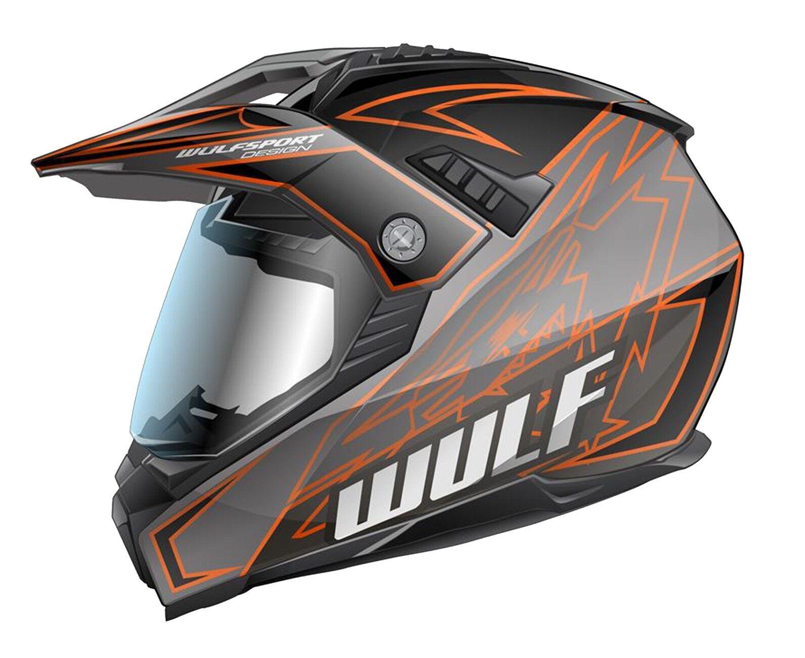 Wulfsport Prima-X Cross Helm M 57-58cm Orange Motorrad Quad Bike Enduro ATV usw.