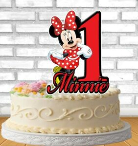 Fabulous Minnie Mouse Cake Topper Personalized Ebay Funny Birthday Cards Online Elaedamsfinfo