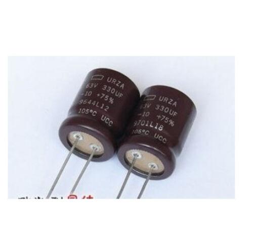 5 pcs URZA Electrolytic Capacitor 330uf//63V