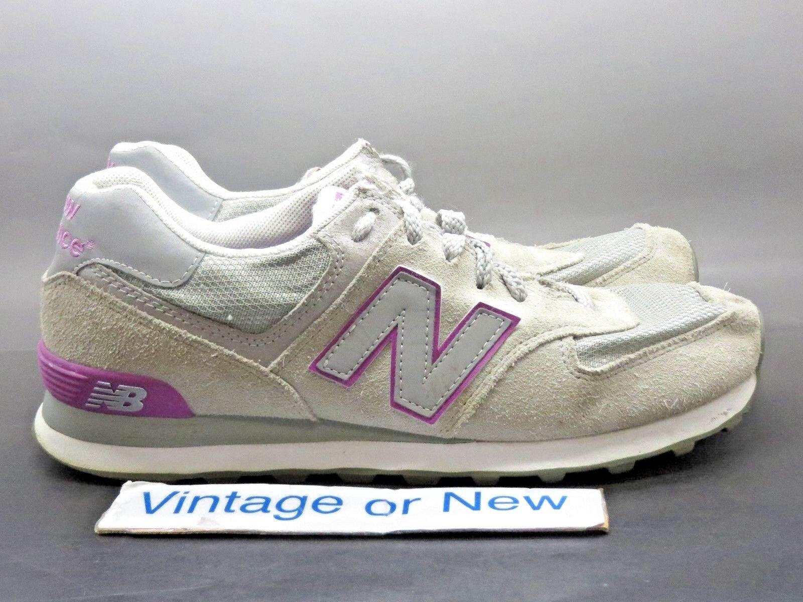 Women's New Balance 574 Grey Purple Suede WL574GCV Running shoes sz 10 B