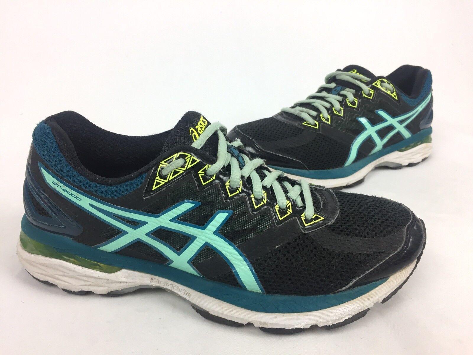ASICS Women's GT-2000 4 Running Shoe Black/pool Blue/flash Comfortable Great discount