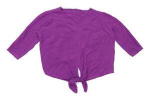 White-Stuff-Womens-Size-18-Cotton-Purple-Jumper-Regular