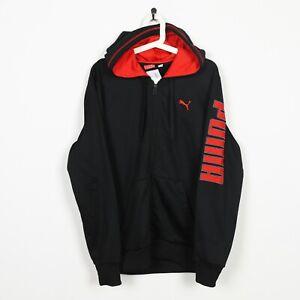 Vintage-PUMA-Sleeve-Spell-Out-Zip-Up-Polyester-Hoodie-Sweatshirt-Medium-M