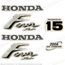 Honda 15hp 4-Stroke Outboard Decal Kit - Reproduction Decals in Stock fourstroke