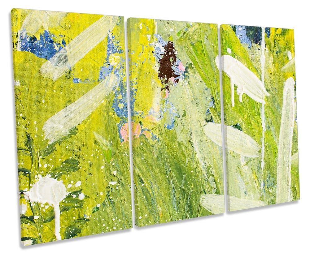 verde ASTRATTO GRUNGE TREBLE TELA parete opera d'arte art print print print 828f8e