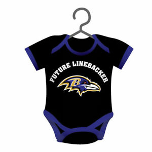 830ad230 Details about Set of 3 Baltimore Ravens Baby Body suit Ornament tree must