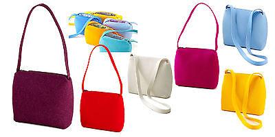 Schultertasche Umhänge Tasche Merino Schurwoll Filz * 2 Längen * viele Farben