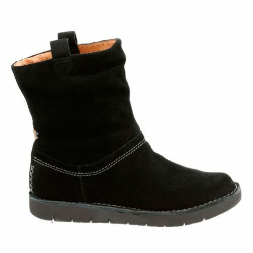 Clarks Clarks Clarks ** ONU ashburn neri in pelle scamosciata ** LINEA DONNA STIVALETTI SLOUCH CASUAL UK3.5 RRP b63cfd