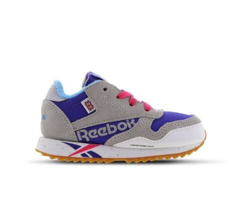 Reebok Classic leather Ripple MU Infant Trainer Shoes Size 4.5 5.5 7.5 8.5 9.5