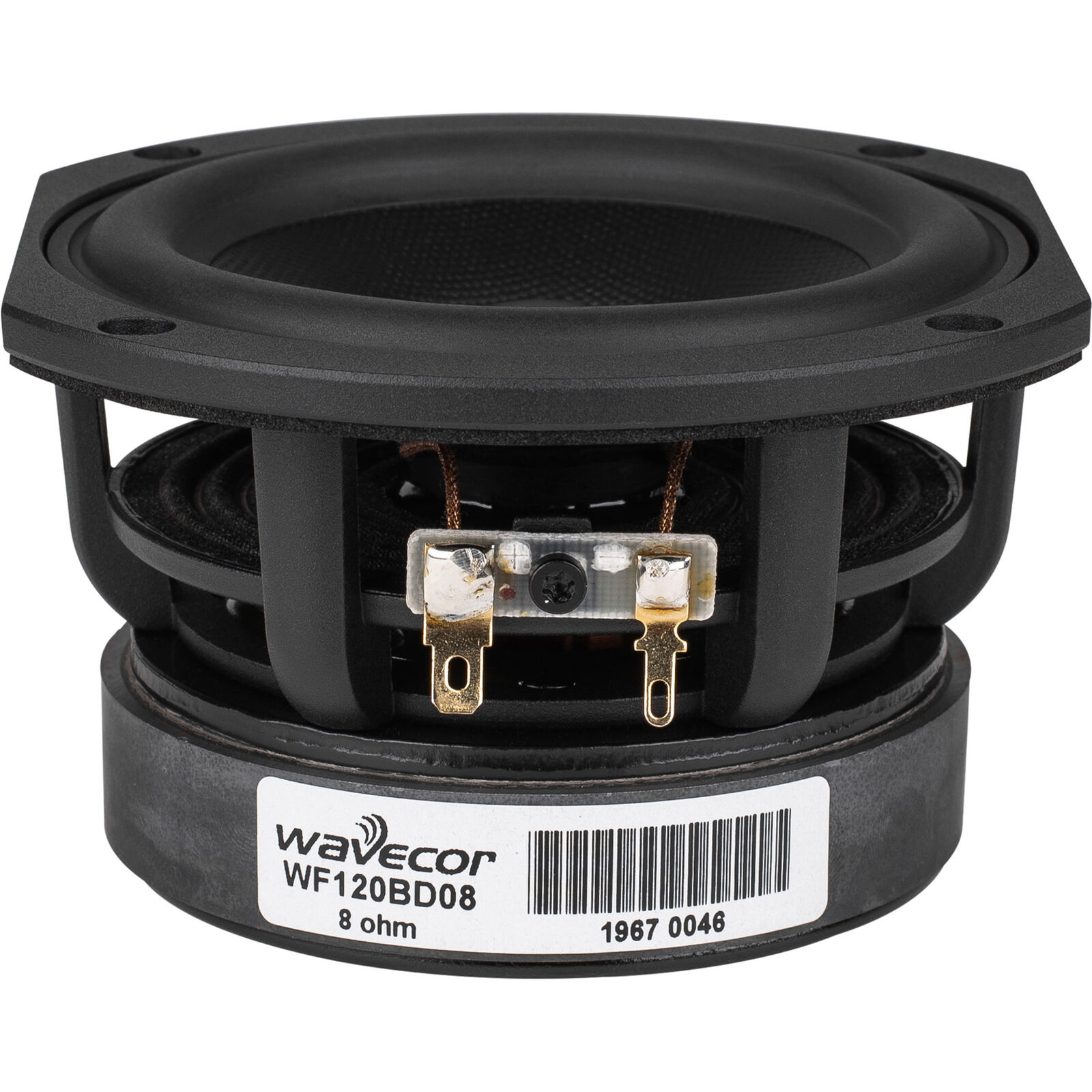 Wavecor WF120BD08 4-3 4  Balanced Drive Paper Cone Mid-Woofer with Truncated Fra